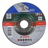 Bosch 2609256333 Mola Taglio Metallo, 125 x 22.23 x 2.5 mm, a Centro Depresso