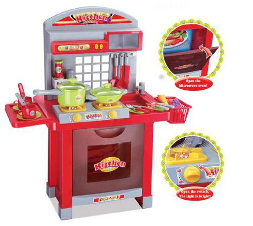 Cocina de juguete para niños - Fogones con luz y sonido - 29 accesorios