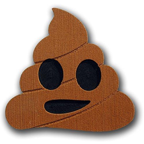 Toejamr Snowboard-Stomp Pad–Poo Emoji–Braun