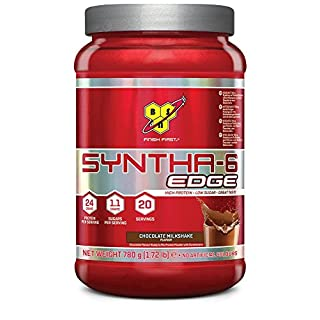 BSN Syntha 6 Edge Whey Protein Powder with Glutamine and Amino Acids. Low Sugar Protein Shake by BSN - Chocolate Milkshake, 20 Servings, 780g
