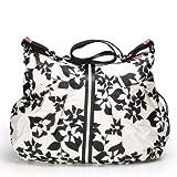 Babymel BM302A - Wickeltasche Amanda Design Floral weiss und schwarz