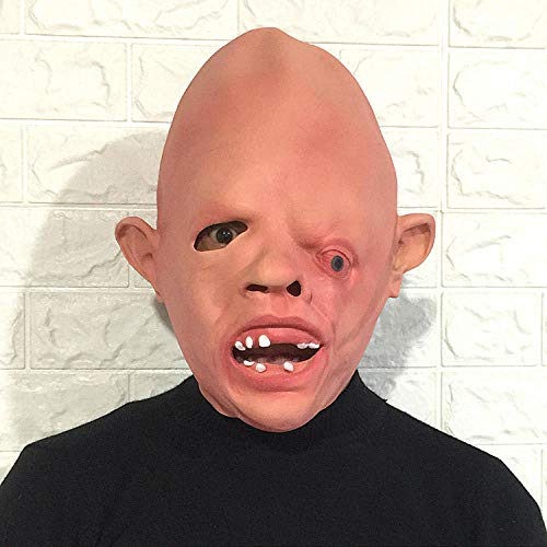 TGCYMYY Darstellende Requisiten, Horror, einäugiger Drache, Scherzmaske, Kopfbedeckung, Halloween-Geistgesichts-Latexmann-Make-up-Tanzperformance