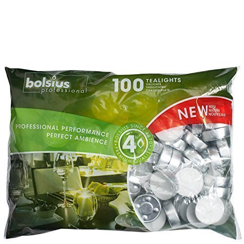 Bolsius professionali 4 ore luci tea (sacchetto di 100)