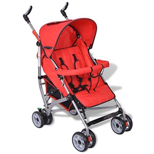 Contemporáneo Cochecito del niño Recorrido del bebé Cochecillo infantil 5-Posicion Rojo
