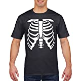Skeleton Mens squelette t-shirt halloween fantaisie robe t-shirt effrayant tshirt des hommes (Enfants 7-8 Ans, Black)