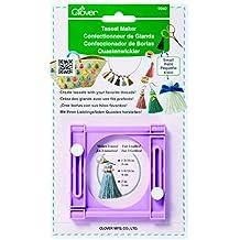 Clover 9940 Clover Quastenwickler Bastelschablone, kunststoff, klein, 22 x 14,5 x 2 cm, violett