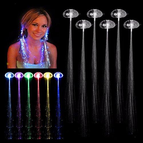 LEDMOMO Bunte Haare mit Haarspangen für Partyartikel ändern Haar Leuchten LED blinkt