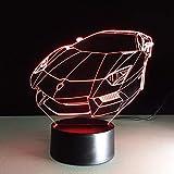 Dwthh 3D Led Table Lumineuse Usb Coloré Vision Voiture De Sport Automobile Forme Nouveauté Chevet Coucher De Nuit Veilleuse Enfants Éclairage Décor Cadeaux