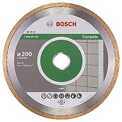 BOSCH Diamanttrennscheibe Standard für Ceramic, 200 x 25,40 x 1,6 x 7 mm, 2608602537