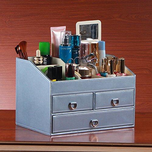 Miroir en cuir boîte cosmétiques Dame commode multifonctionnel cosmétique boîte de rangement . 5 . 30*20*20