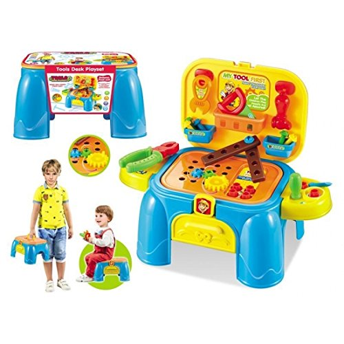 Kinder Lern Aktivität Spielzeug Pretend Play Werkzeug Stuhl Set Kleinkind Schritt Hocker (Dirt Zombie)