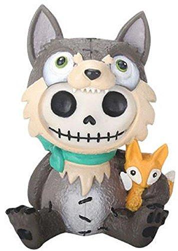 onal Furrybones Wolfgang Skeleton Dressed in Wolf Costume Halloween Figurine New ()