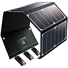 Solar Charger RAVPower 24W Solar Pannel with Triple USB Ports Foldable Portable High Efficiency Outdoor Solar Panel for iPhone, iPad, Samsung Galaxy, Gopro Camera