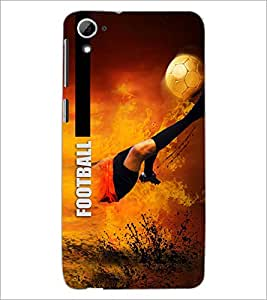 PrintDhaba Football D-5949 Back Case Cover for HTC DESIRE 826 (Multi-Coloured)