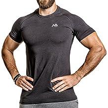 Natural Athlet Fitness T-Shirt Modal - Herren Männer Kurzarm Shirt Optimal für Fitnessstudio, Gym & Training - Passform Slim-Fit, Rundhals & Tailliert - Sport & Freizeit