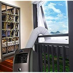 Aozzy AirLock Étanchéité de fenêtre Hot Air Arrêt pour mobile Unités de climatisation Bâche isolante, Joint de fenêtre pour climatiseur portatif et sèche linge