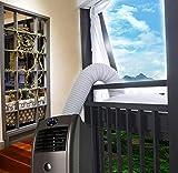 Aozzy Aparatos de Aire Acondicionado portátiles Cubierta de Ventana airlock,Pantalla para Evitar la Entrada de Aire Caliente Accesorio de Sistema de Aire Acondicionado