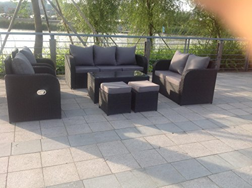 Yakoe 60007 176x65x74 5 cm 9 seater rattan garden for 9 seater sofa set