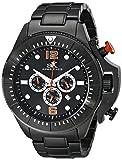 ADEE KAYE AK9041-MIPB - Reloj de pulsera hombre, acero inoxidable, color Negro