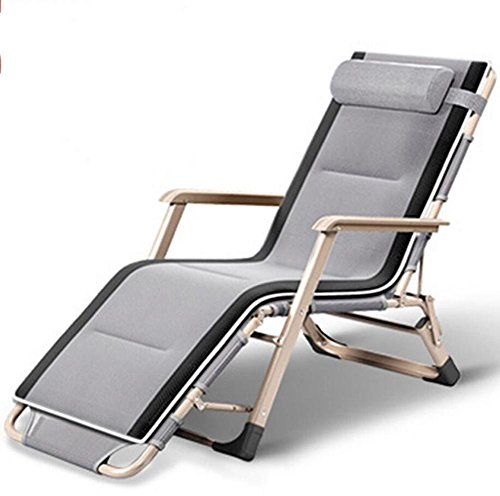 Falten Wagen Longue Faul Sofa Stuhl Liegestühle Nickerchen Bett Camping Kinderbett Stehlen Rahmen ca 178 * 68 * 98 cm , Gray , 178*68*98 (Liegende Wohnzimmer Sofa)