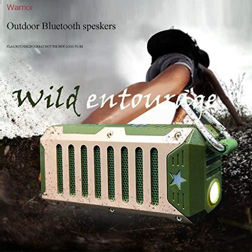 Nourich T9 Bluetooth-Außenlautsprecher, wasserdichter, regendichter, tragbarer, drahtloser Säulenlautsprecher-Box eingebautes Mikrofon TF, MP3-Rauschunterdrückung