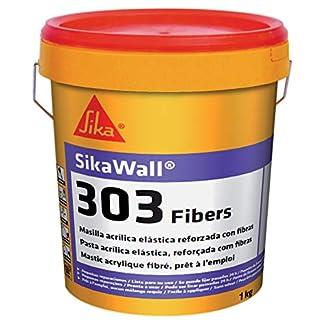 Sikawall-303 Fibers, Masilla acrílica lista para usar fibra de vidrio