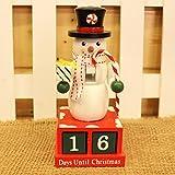 Wandkalender,Hunpta Weihnachten kreative Geschenke Holzkalender Dekoration Dekoration Mini aus Holz (Grün)