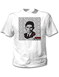 Teesquare1st Men's FRANZ KAFKA - YOU CAN HOLD YOURSELF BACK White T-Shirt