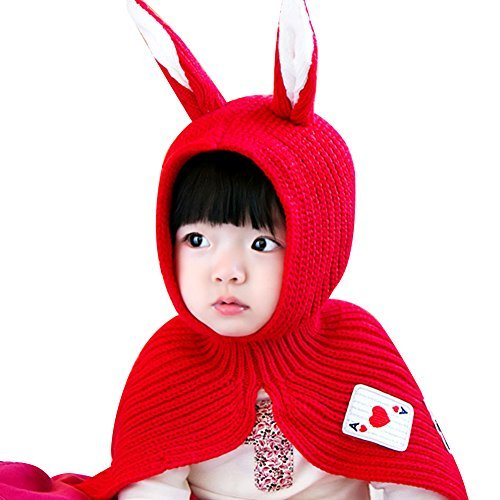8d98dd9a67c IMLECK Baby Boy Girl Bib Woolen Baby Rabbit Ear Knit Hat - 2017 best gift in