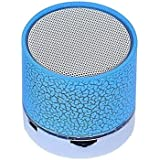 Shiank Wireless LED Mini Bluetooth Speaker With Disco Lights USB Plug & Play Fm Radio MicroSd Slot MP3 Player Portable Car Audio Player Compatible With All Android, IOS And Windows Devices (Color May Vary)