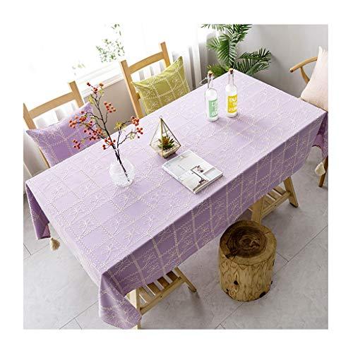 Tovaglia lavabile in cotone e lino ricamo copertura quadrata da tavolo grande for cucina tavolo da pranzo decorazione for buffet (color : c, size : 130cm*130cm)