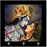 TYYC Diwali Gifts Printed Religious Radha Krishna Key Holder For Home Wall Decor Keychain Holder Hanger
