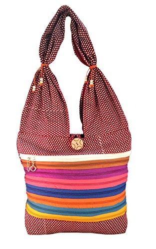 Deal Especial , Damen Rucksackhandtasche mehrfarbig M Braun
