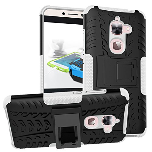 Nadakin LETV LeEco Le 2/Le S3/Le 2 Pro Hülle Schutzhülle Hybrid Rugged Phone Case Stoßfest Handys Schutz Cover mit eingebautem Kickstand Shockproof für LETV LeEco Le 2/Le S3/Le 2 Pro (Weiß)
