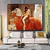 WZJYAJZW Rahmenlose Leinwand Malerei nackte Frauen Leinwand Malerei Poster und Druck Wand Pop-Art Wohnzimmer dekorative Malerei-60 * 80 cm