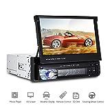 Podofo 7 Pulgadas Reproductor Multimedia para Coche Pantalla Táctil Bluetooth Radio FM Manos Libres Soporte Estéreo de Control remoto Mp5/MP4/USB/SD/AUX/FM/iPod/iPhone