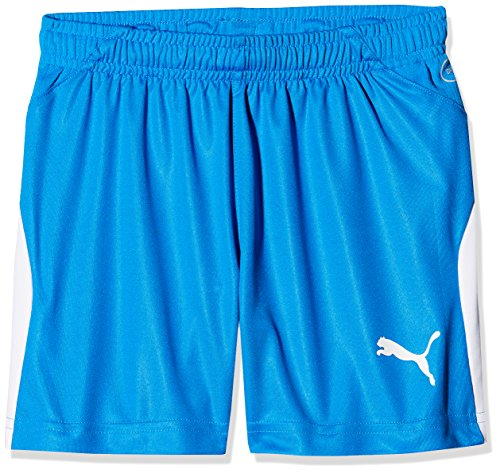 Puma Kinder Liga Shorts, Electric Blue Lemonade/White, 140