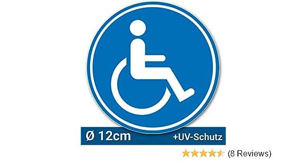 Easydruck24de 1 Rollstuhl Aufkleber Innenklebend I ø 10 Cm
