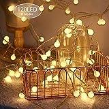 Catena Luminosa 15m 120LED,KOREY Catena di Lampadine,Stringa Luci da Giardino,Luce da Illuminazione Luci Decorative,Bulbo Lampade
