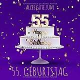 Alles Gute zum 55. Geburtstag: Gästebuch zum Eintragen - Lila Edition -110 Seiten