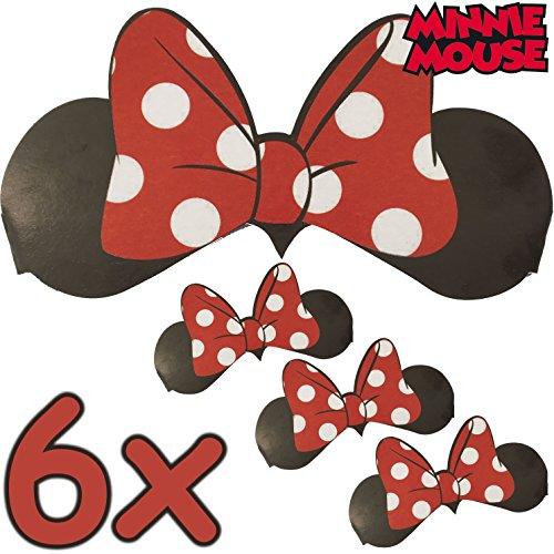 en + Schleife ┃ für Kinder und Erwachsene ┃ Disney ┃ Werden Sie zur Minni Maus ✔ (Disney Minnie Maus Ohren)