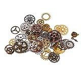 Sharplace 100g Vintage Charmes Gear Pendentif Mélange Alliage Mécanique Steampunk Cogs pour Bracelets Collier Bricolage Métal Fabrication De Bijoux