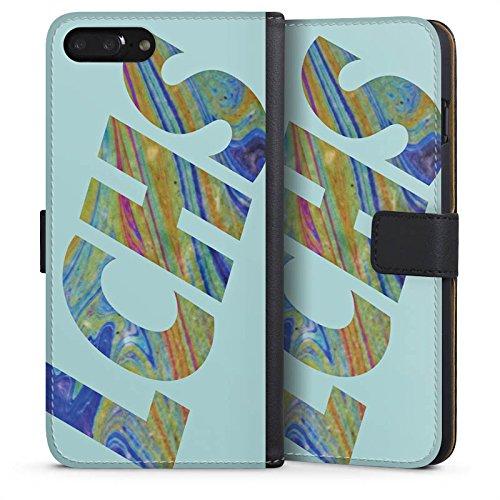 Apple iPhone 6s Hülle Premium Case Cover Die Lochis Fanartikel Merchandise Roman und Heiko Sideflip Tasche schwarz