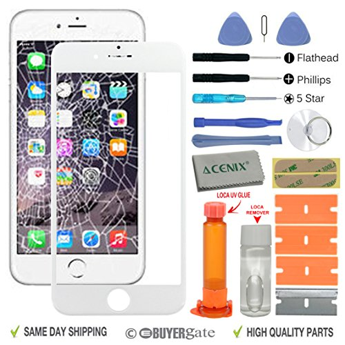 acenixr-white-touch-screen-front-glass-lens-replacement-repair-kit-with-loca-glue-loca-remover-for-a