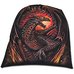 Spiral Direct Dragon Furnace-Light Cotton Beanies Black Gorro de Punto, Negro, Talla única Unisex Adulto