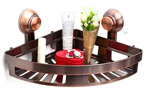 Scarico Tougmoo Storage rack con doppia testa a ventosa supporto della staffa supporto a ventosa vuoto bagno Accessaries multiuso Storage COPPER COLOR