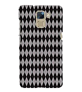 Fiobs Designer Phone Back Case Cover Huawei Honor 7 :: Huawei Honor 7 (Enhanced Edition) :: Huawei Honor 7 Dual SIM ( Grey Pattern )
