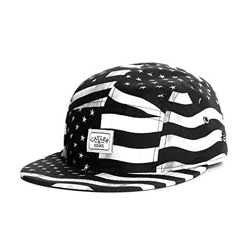 Cayler And Sons - Casquette 5 Panel Homme Flagged 5 Panel Cap - Black/White