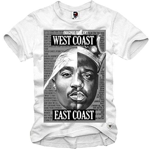 e1syndi Cate Camiseta de East Coast West Coast 2Pac Notorious Big Eazy–Equipo...