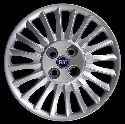 Copricerchi-Copriruota-Coppa-15-Pollici-Fiat-Grande-Punto-Logo-blu